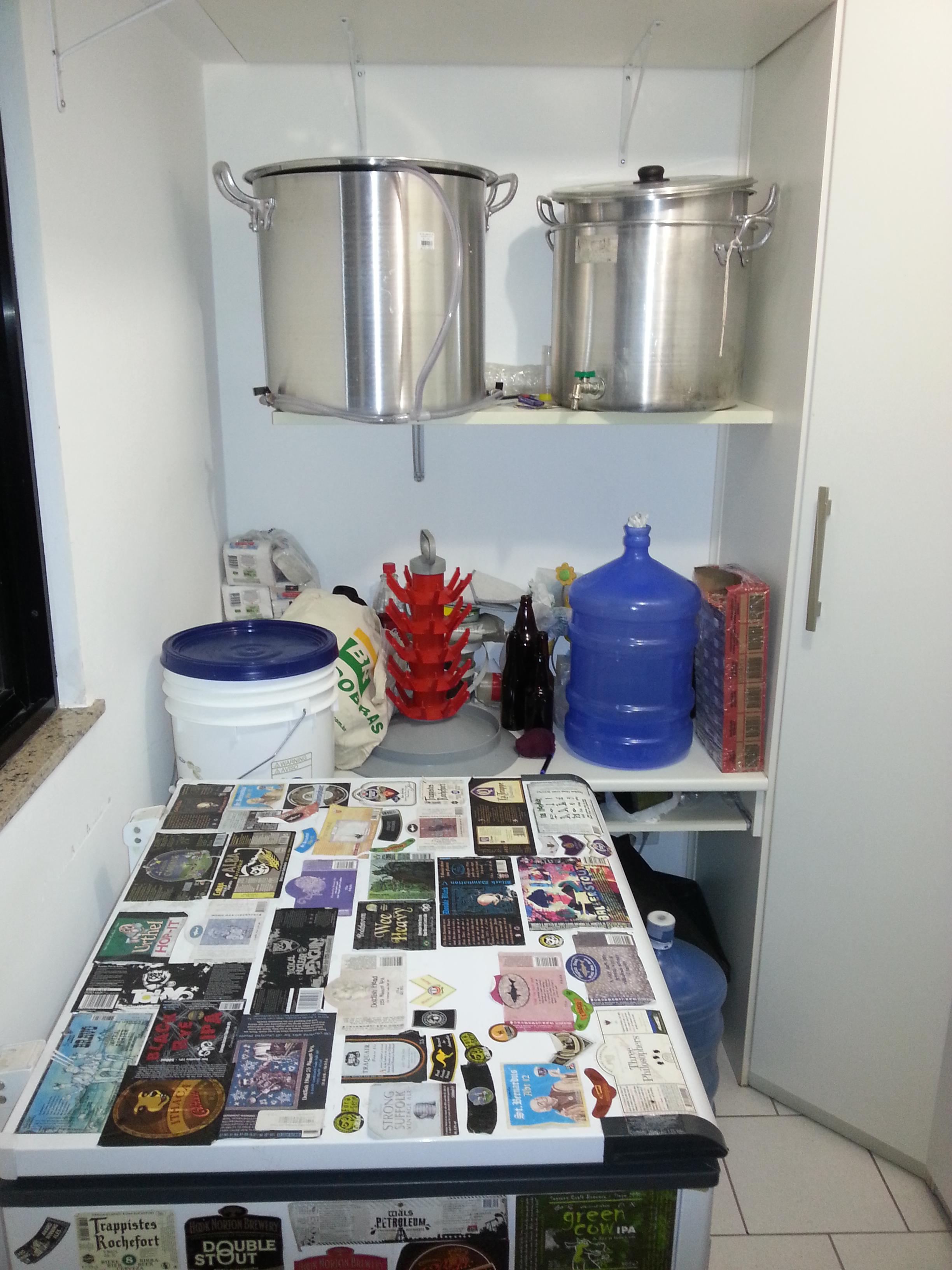 Cozinha cerveja caseira homebrew freezer espa o - Temperatura freezer casa ...